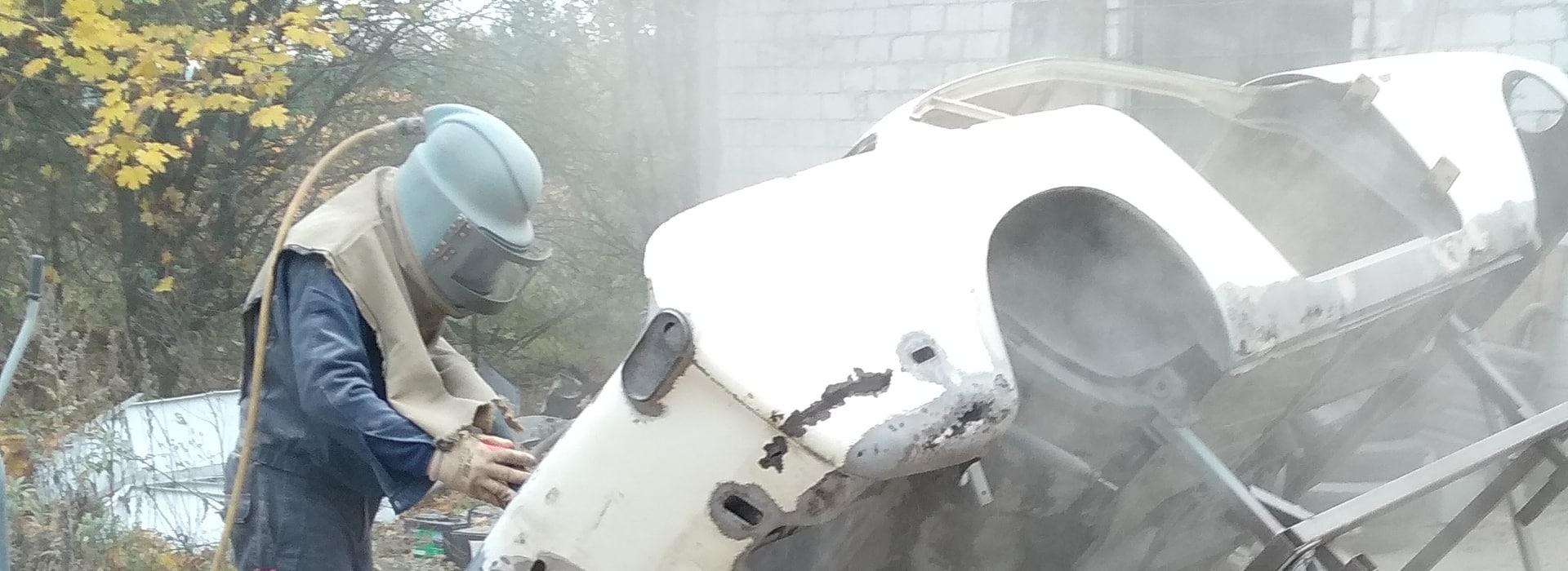 Auto Restoration with Media Blasting