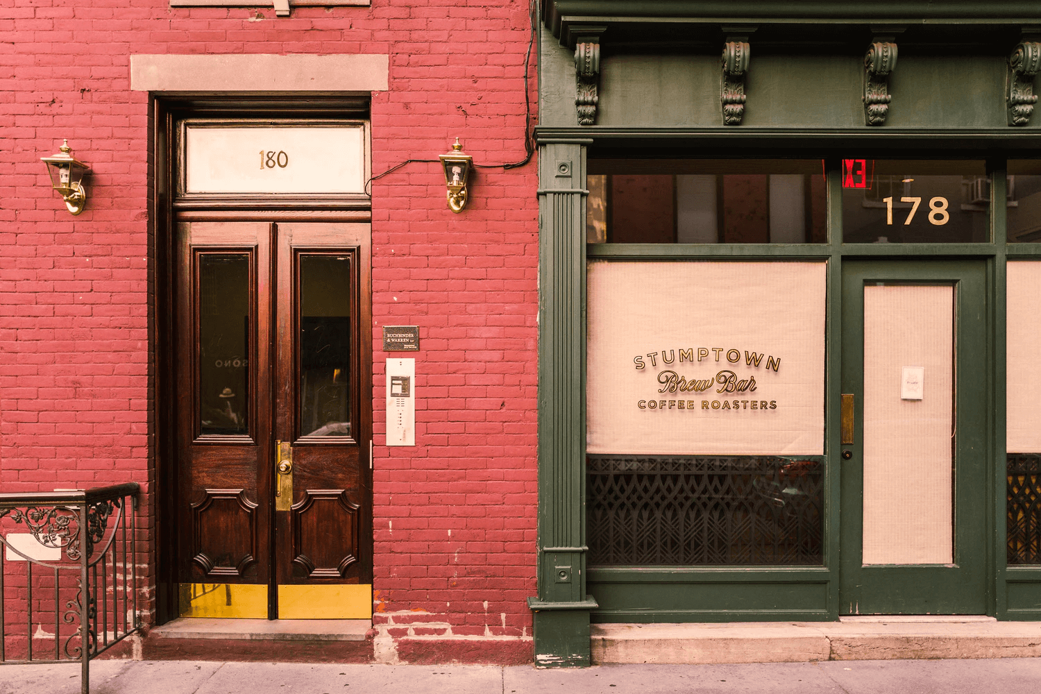 Storefront with red bricks